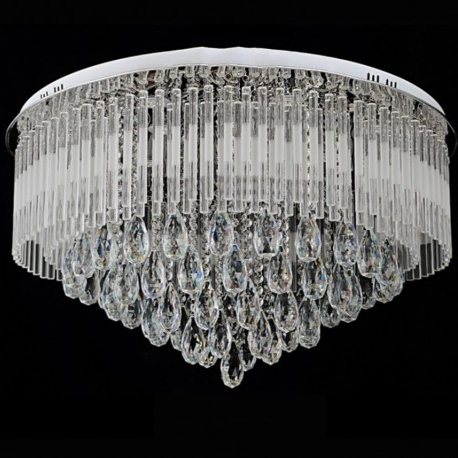 Fashionable 65/80 Cm Modern Round K9 Crystal Led Flush Ceiling Light Chandelier Pertaining To Flush Chandelier (View 2 of 10)