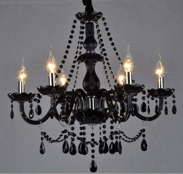 Fashionable Black Glass Chandeliers In Black Glass Crystal Chandelier Buy Throughout Remodel (View 7 of 10)