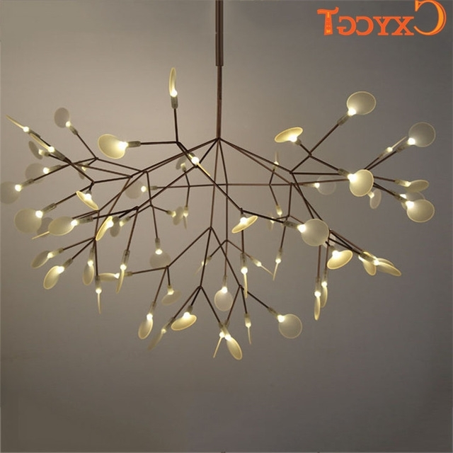 Fashionable Branch Chandeliers Intended For White Tree Branches Chandeliers Modern Suspension Hanging Light (View 5 of 10)