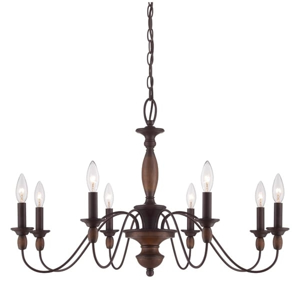Fashionable Candle Light Chandelier For Quoizel 'holbrook' 8 Light Chandelier – Free Shipping Today (View 6 of 10)