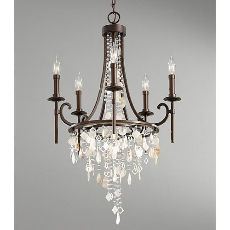 Fashionable Feiss Cascade 5 Light Single Tier Chandelier Mf F2663 5htbz For Intended For Feiss Chandeliers (View 8 of 10)