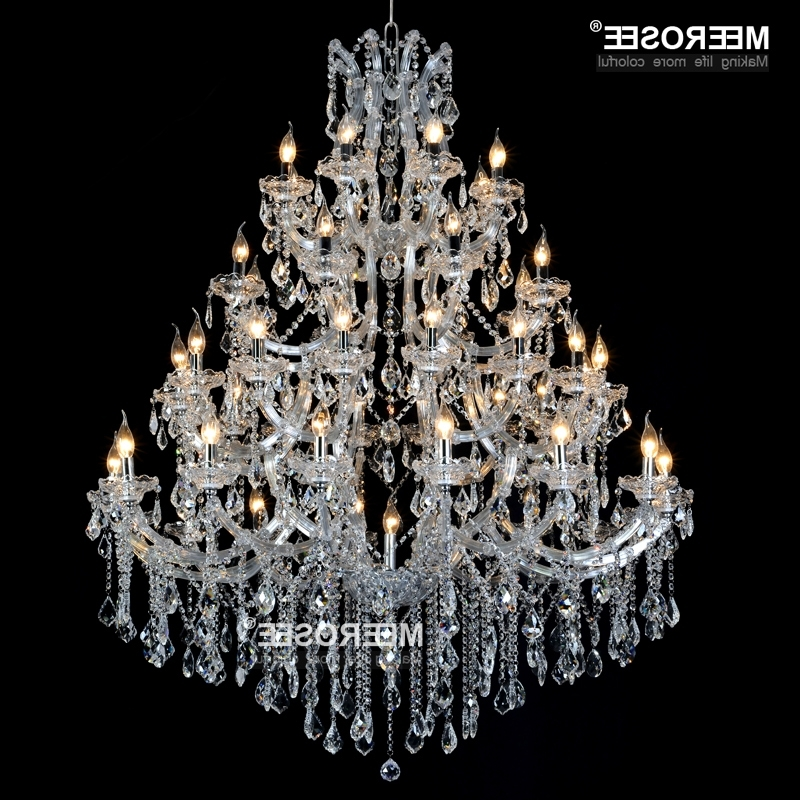 Fashionable Huge Crystal Chandelier Light Fixture For Hotel Project Gorgeous Within Huge Crystal Chandeliers (View 5 of 10)