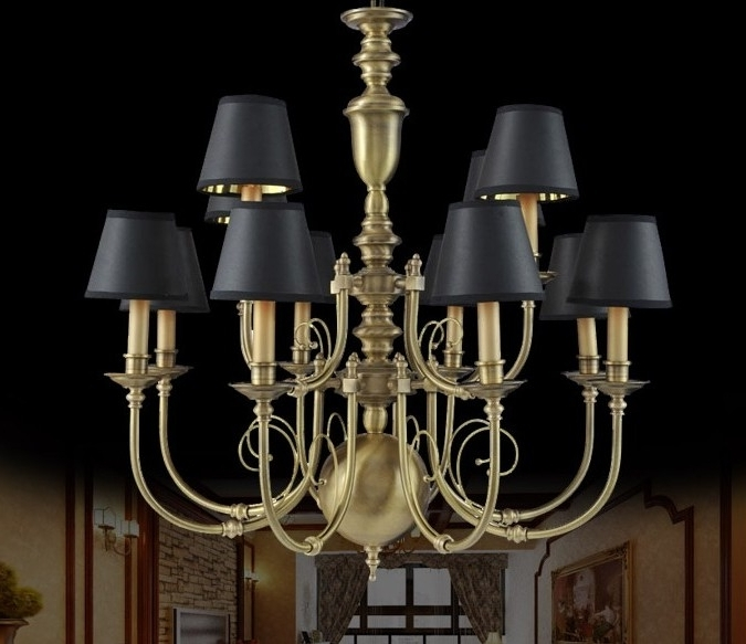 Fashionable Large Brass Chandelier Throughout Large Antique Brass Chandeliers : Lamp World (View 4 of 10)