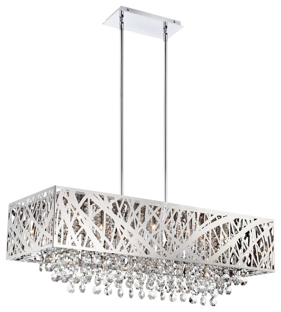 Fashionable Modern Chrome Chandeliers For Modern Chrome Chandeliers – Chandelier Designs (View 9 of 10)