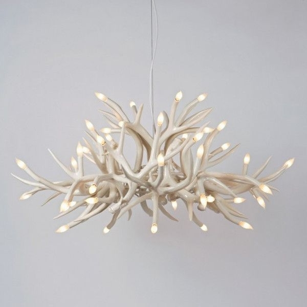 Fashionable Modern White Chandelier With Hill Superordinate Antler Chandelier 24 Antlers Modern Chandeliers (View 2 of 10)