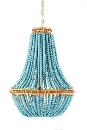 Fashionable Turquoise Empire Chandeliers Pertaining To  (View 4 of 10)