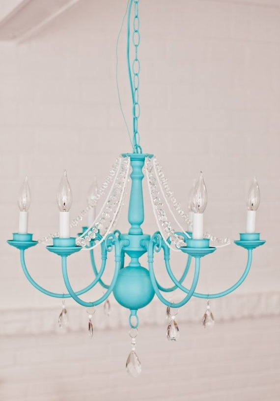 Fashionable Victorian Mod Custom Chandeliers In Any Color //pink, Aqua In Turquoise Color Chandeliers (View 8 of 10)