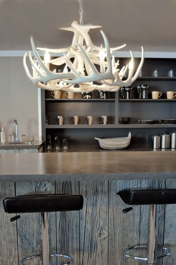Faux Antler Chandelier W (View 3 of 10)