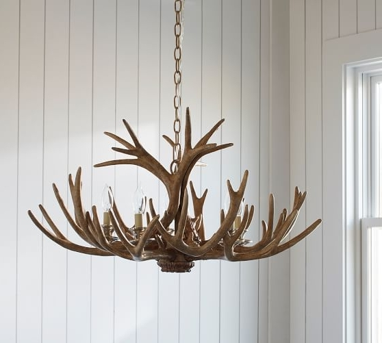 Faux Antler Chandelier (View 8 of 10)