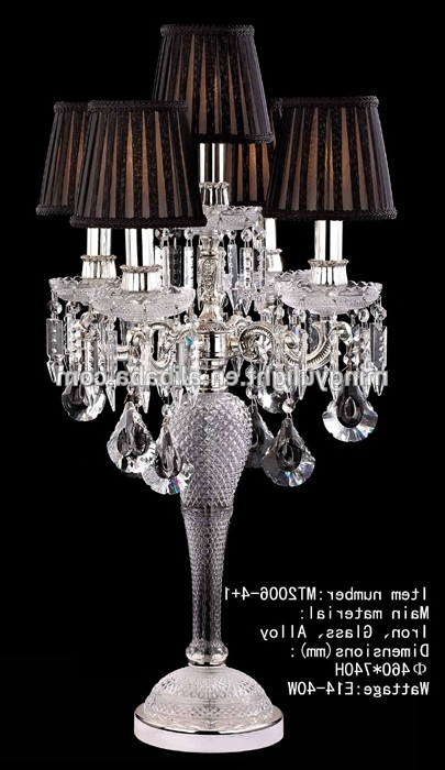 Featured Photo of Faux Crystal Chandelier Table Lamps