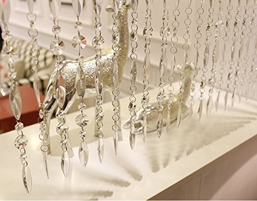 Featured Photo of Faux Crystal Chandelier Wedding Bead Strands