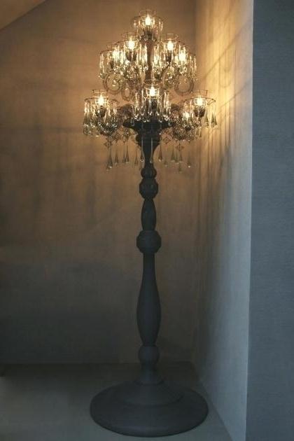 Featured Photo of Standing Chandelier Floor Lamps
