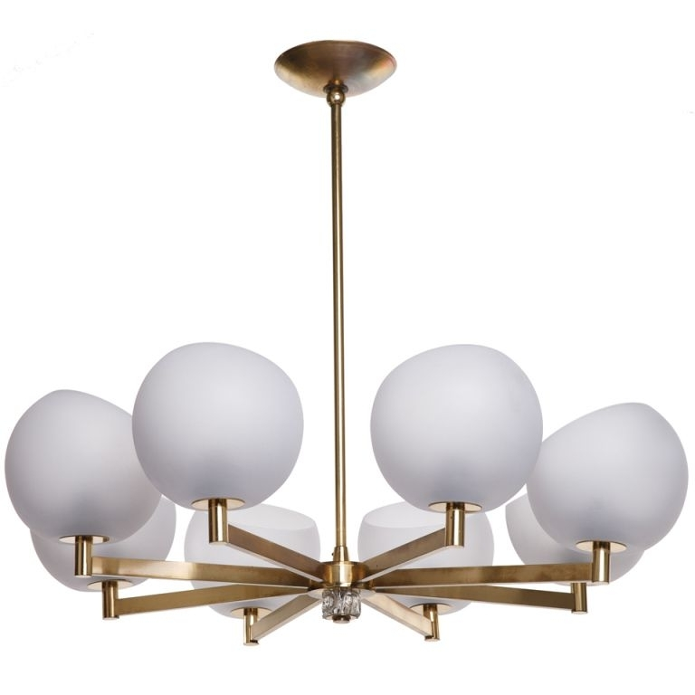 Favorite Brass And Glass Globe Chandelier (View 3 of 10)