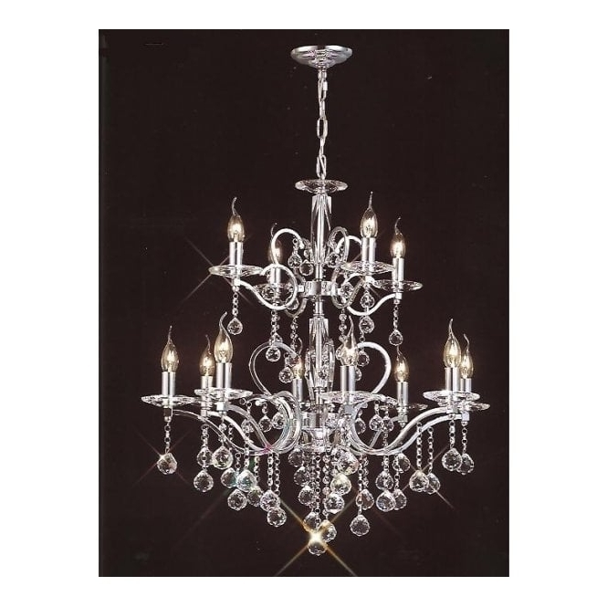 Favorite Buy Large Lights Chrome Egyptian Lead Crystal Chandelier (View 9 of 10)