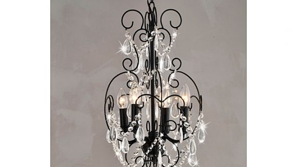 Favorite Crystal Mini Chandelier Pendant Light In Chrome Finish Ceiling With Mini Crystal Chandeliers (View 9 of 10)