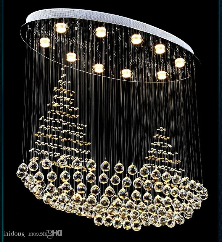 Favorite Led Crystal Sailing Lights Restaurant Chandeliers Round Bedroom Pertaining To Restaurant Chandeliers (View 4 of 10)
