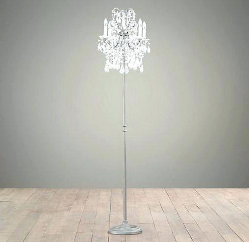 Favorite Lovely Standing Chandelier Floor Lamp For Chandelier Standing Lamp Inside Crystal Chandelier Standing Lamps (View 6 of 10)