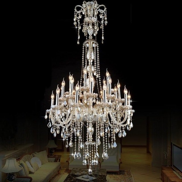 Favorite Penthouse Antique Pendant Crystal Chandelier Led Cognac Crystal Pertaining To Long Hanging Chandeliers (View 3 of 10)