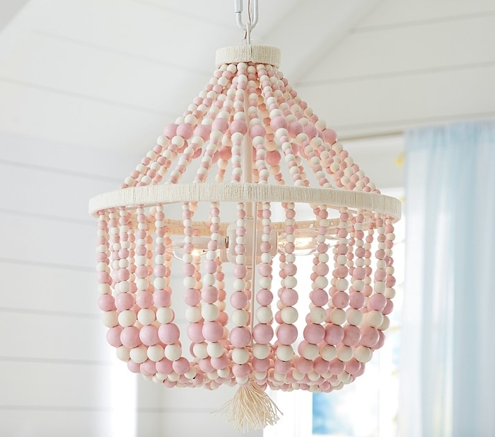 Favorite Pink Dahlia Chandelier Pottery Barn Kids Intended For Room Decor 9 Throughout Chandeliers For Kids (View 8 of 10)
