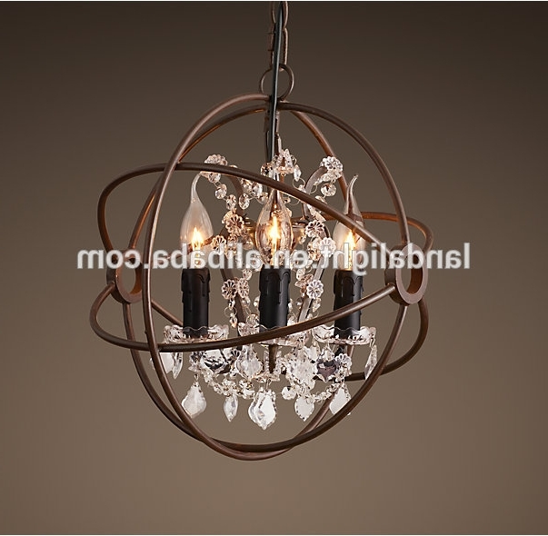 Favorite Rh Retro Metal Ball Crystal Chandelier Lighting – Buy Rh Chandelier Regarding Metal Ball Chandeliers (View 10 of 10)