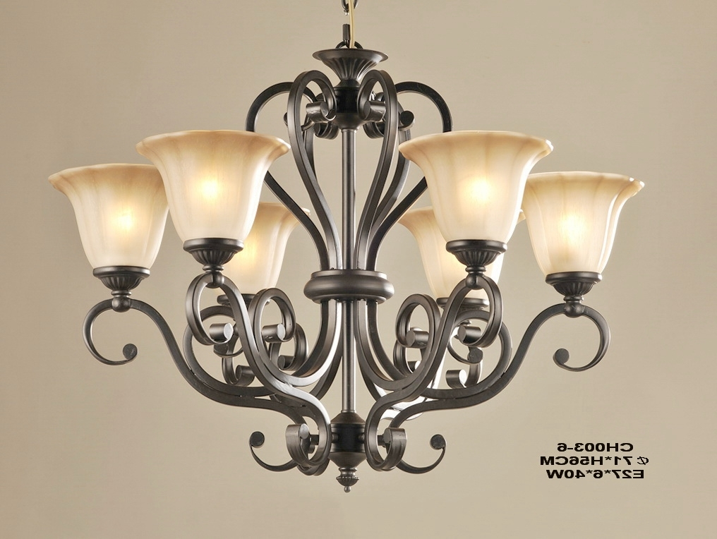 Favorite Traditional Chandeliers Pertaining To Outlet 6 Light Matte Black Iron Traditional Chandeliers (View 3 of 10)