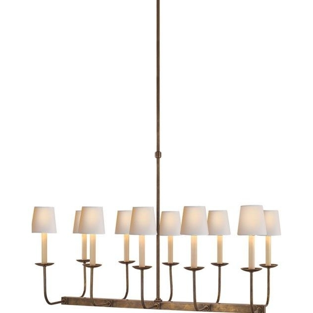 Favorite Visual Comfort Sl5863Hab Studio Sandy Chapman 10 Light Linear Regarding Branched Chandelier (View 7 of 10)