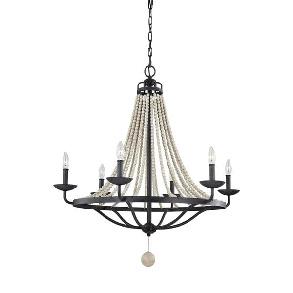 Feiss Nori 6 Light Dark Weathered Zinc / Driftwood Grey Chandelier Intended For Recent Feiss Chandeliers (View 4 of 10)