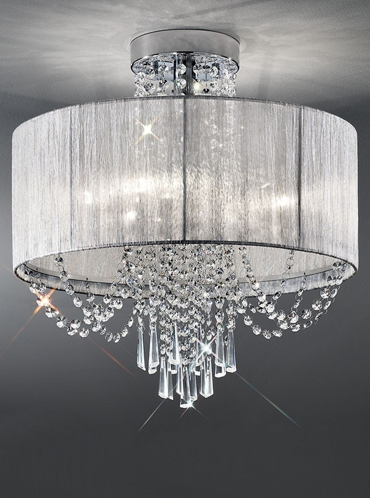 Flush Chandelier Ceiling Lights With Trendy Franklite Empress 6 Light Semi Flush Crystal Ceiling Light Semi (View 5 of 10)
