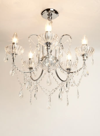 Flush Fitting Chandeliers Inside Most Recently Released Edith Flush – Chandeliers – Ceiling Lights – Home, Lighting (View 8 of 10)