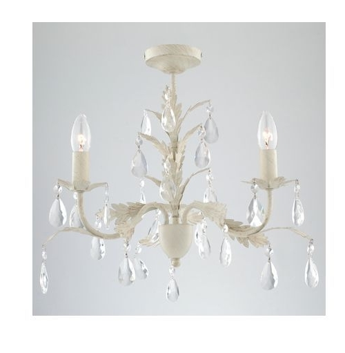 French Chateau Leaf Cream Porcelain Brushed Gold Ceiling Light Jewel Intended For Famous Cream Gold Chandelier (View 6 of 10)