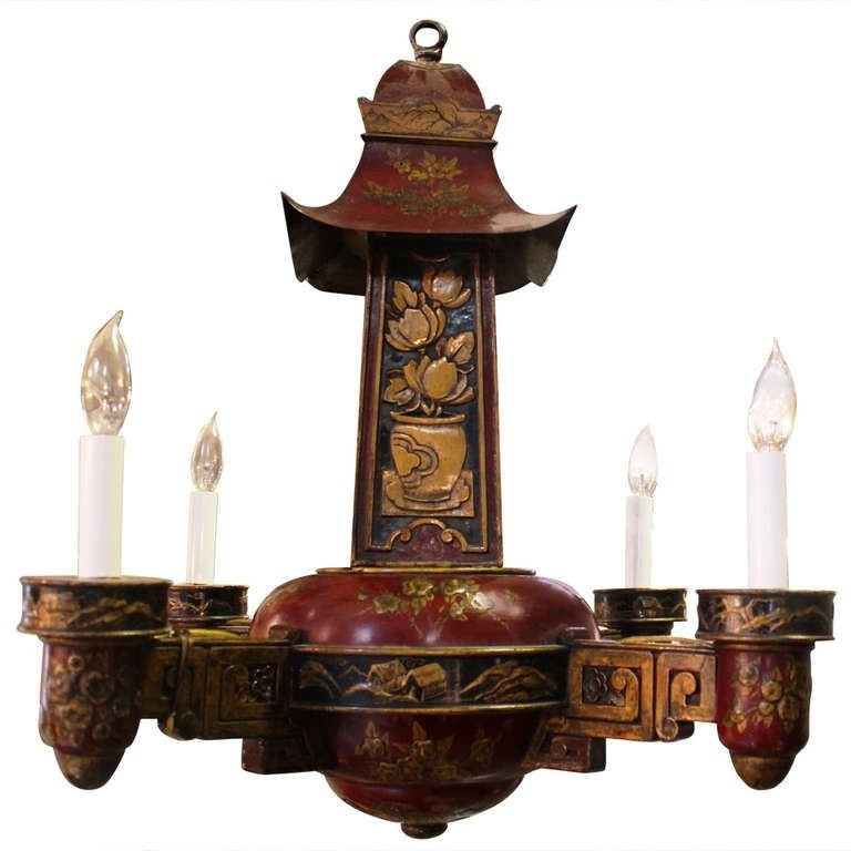 Top 10 of chinoiserie chandeliers french painted wood and tole four arm chinoiserie chandelier pertaining to well known chinoiserie chandeliers aloadofball