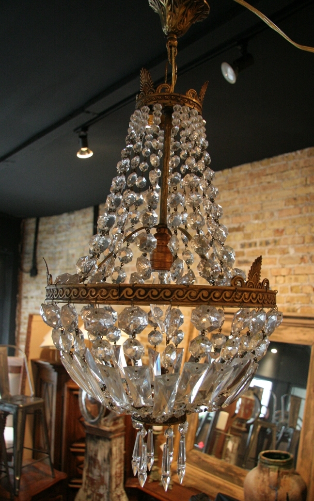 French Vintage Empire Style Crystal Chandelier – For Latest Vintage Style Chandelier (View 5 of 10)