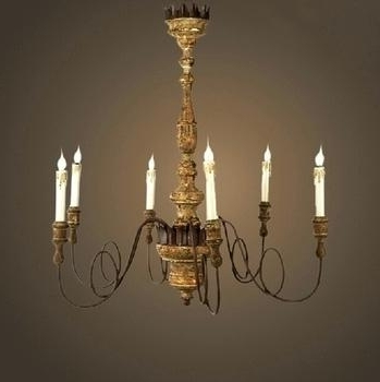 French Wooden Chandelier Antique French Wood Chandelier – Pinkfolio Intended For Favorite French Wooden Chandelier (View 6 of 10)