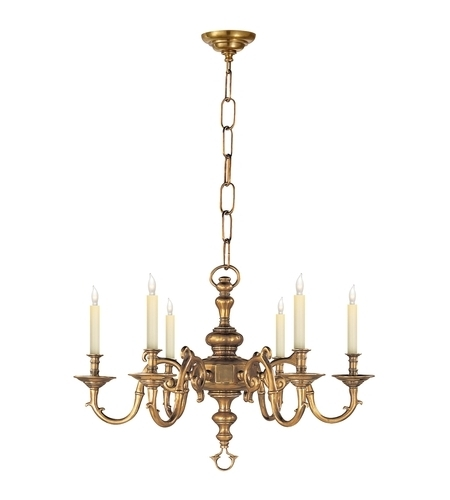 Georgian Chandelier Intended For 2017 Visual Comfort Chc1131Ab E. F. Chapman Georgian 6 Light 28 Inch (Gallery 6 of 10)