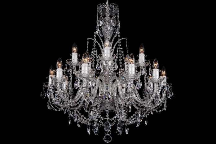 Georgian Chandelier With Regard To Famous 15 Light Classic Georgian Style Chandelier In Silver Clds 15 – The (Gallery 8 of 10)