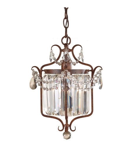 Gianna Mini Chandeliers With Well Known Feiss Gianna Scuro 1 Light Mini Chandelier In Mocha Bronze F2473/1mbz (View 8 of 10)