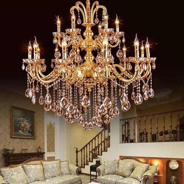 Gold Crystal Chandelier Modern Gold Chandelier Lights Indoor With Regard To Favorite Crystal Gold Chandeliers (Gallery 1 of 10)