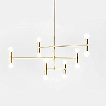 Gold Modern Chandelier With Regard To Well Liked Yoka Modern Pendant Lighting Ceiling Chandelier Hanging Lamp With  (View 5 of 10)