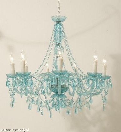 Gorgeous Turquoise Chandelier, Teal, Light Turquoise, Blue Green Inside Most Popular Turquoise Chandelier Lights (Gallery 2 of 10)