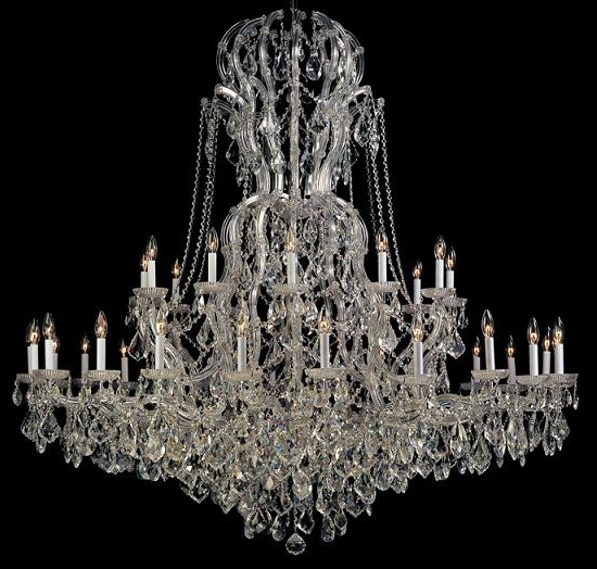 Home Design : Elegant Large Crystal Chandeliers Impressive Glass Intended For Most Up To Date Large Glass Chandelier (Gallery 4 of 10)