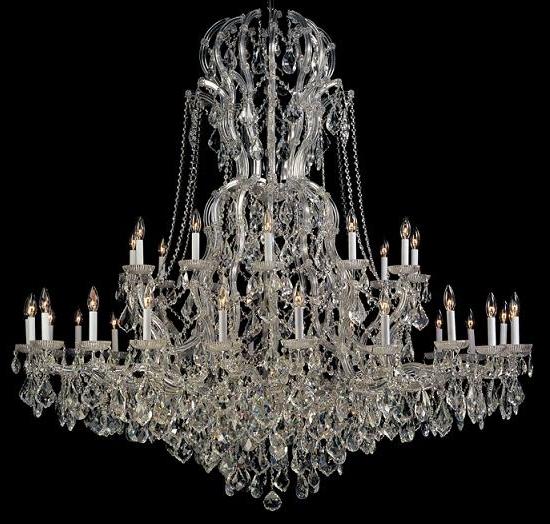 Home Design : Elegant Large Crystal Chandeliers Impressive Glass With Popular Huge Crystal Chandelier (Gallery 4 of 10)
