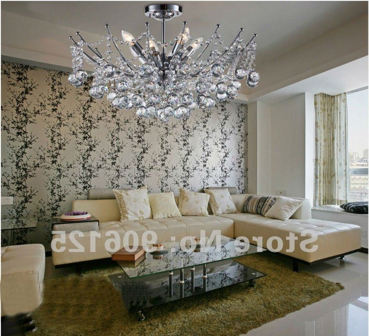 Hot Selling ! Modern Crystal Chandelier Light Fixture Chrome Crystal Regarding Trendy Crystal Chrome Chandelier (View 6 of 10)
