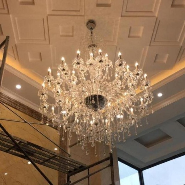 Hotel Chandelier Throughout Widely Used Aliexpress : Buy Svitz 45 Pcs Led Clear Crystal Light Hanging (View 4 of 10)