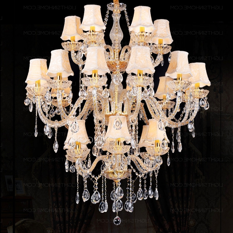 Huge Chandeliers Within Well Known Luxury Three Tiered K9 Crystal Huge Chandeliers For Sale (View 7 of 10)