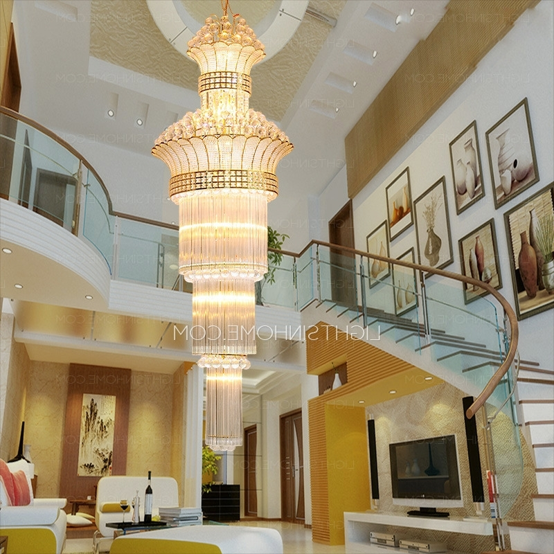 Huge Crystal Chandelier Regarding Most Up To Date Huge 17 Light Hardware Foyer Empire Crystal Chandelier (View 3 of 10)