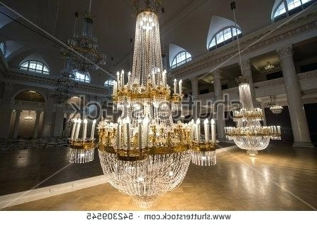 Huge Crystal Chandeliers Throughout Well Known Crystal Chandelier Hall Saint 6 Huge Crystal Chandeliers In The (View 6 of 10)