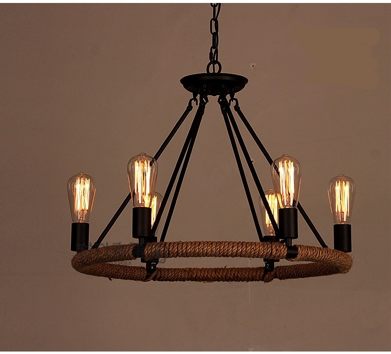 Incredible Antique Chandeliers Within Retro E27 Bulb Black Iron Within Most Popular Retro Chandeliers (Gallery 9 of 10)