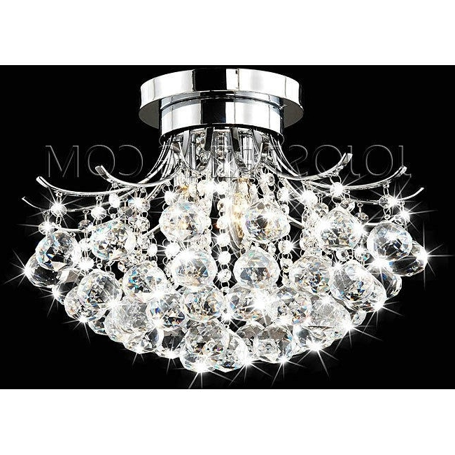 Indoor 3 Light Chrome  Crystal Chandelier Intended For Most Up To Date Chrome And Crystal Chandelier (Gallery 8 of 10)
