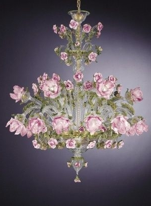 Italian Chandeliers Regarding Most Popular 18 Arm Murano Glass Floral Chandelier (View 6 of 10)