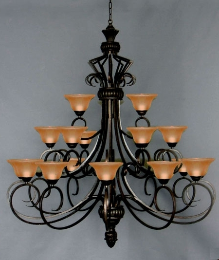 J10 568/21 Gallery Wrought Iron Wrought Iron Chandelier For Most Recently Released Cast Iron Chandelier (View 6 of 10)